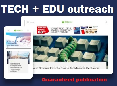 6 X Premium TECH and EDU guest posts with DO-Follow links